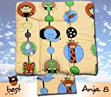 Best For Kids BESONDERE KUSCHELWEICHE Wickelauflage mit TÜV 100% Baumwolle Wickeltischauflage 3 in 1 in Größe 70x50 mit Öko Tex Standart