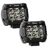 LED Zusatzscheinwerfer, Aaiwa 2x27W Auto Arbeitsscheinwerfer LED Light Bar 4 Inch Offroad Scheinwerfer Arbeitslicht mit 9 LED für Boot LKW SUV ATV, 2 Jahre Garantie