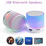Inventia Speaker Mini S10 Wireless LED BluetoothSpeaker With Calling Functions & FM Radio (Assorted Colour)