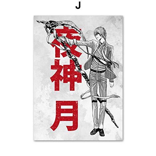 XWArtpic Dragon Ball DBZ Super Okami Death Note Japan Anime Poster Und Drucke Wandkunst Leinwand Malerei Wandbilder Kinderzimmer Dekor 50 * 70 cm