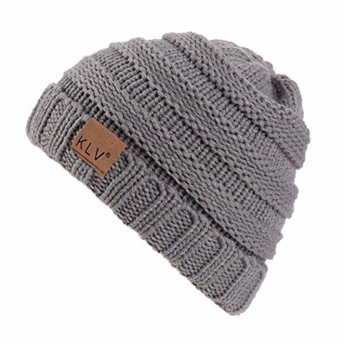 Transer® Unisex Mädchen/Jungen Hut Kleinkind Baby Säugling Cap Strickwolle Ski Beanie Wärmer Winter Outdoor Mützen für 2-8 Jahre alt Childen (Kleinkind Junge Hüte)