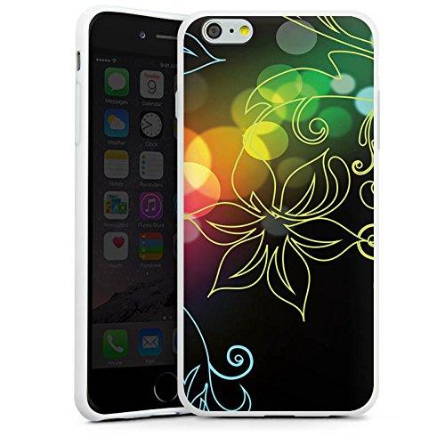 Apple iPhone X Silikon Hülle Case Schutzhülle Blumen Licht Bunt Silikon Case weiß