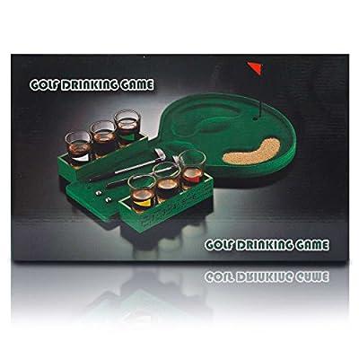 Goods & Gadgets Jeu de consommation d'alcool au golf - Jeu de mini-golf à boire