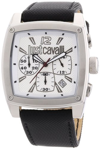 Just Cavalli Hombres de pulpa Cronógrafo Dial Plateado Reloj R7271583001