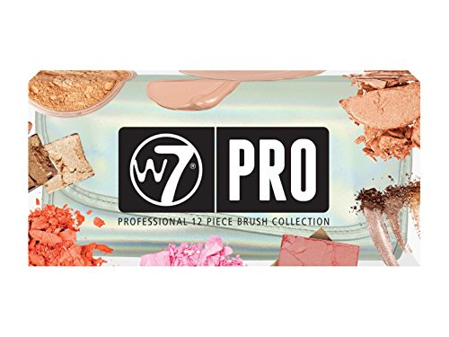 W7 PRO Professional 12 Pieces Brush Collection Gift Set Iridescent Case