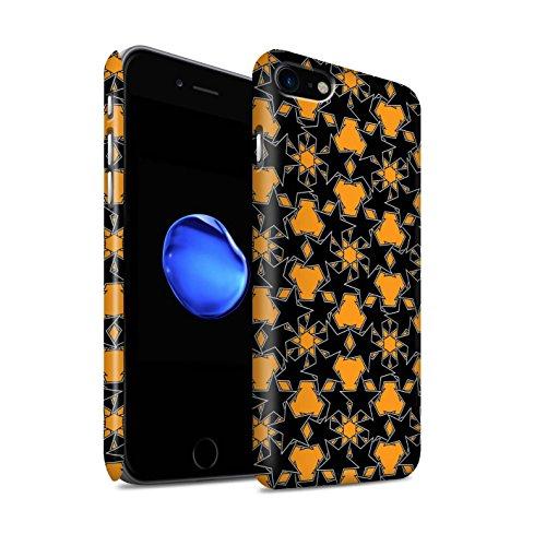 STUFF4 Matte Snap-On Hülle / Case für Apple iPhone 8 / Zufälliges Rosa Muster / Zerstreute Sterne Kollektion Orange Muster