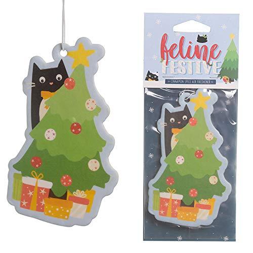 Publilancio srl ambientador de coche Navideño Gato Detrás árbol Navidad en el Canela