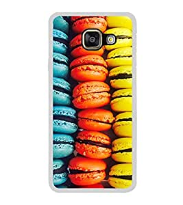Fiobs Designer Back Case Cover for Samsung Galaxy A5 (6) 2016 :: Samsung Galaxy A5 2016 Duos :: Samsung Galaxy A5 2016 A510F A510M A510Fd A5100 A510Y :: Samsung Galaxy A5 A510 2016 Edition (Buns Burgers Donut Colorful Mobile Case Colourful )