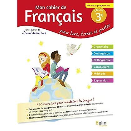 Mon cahier de français 3éme