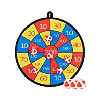 Garneck Dart Board Set Sticky Ball Darts Toss Game Sport Toy Parent-Child Game Plaything Indoor Outdoor Family Fun Picnic Party Favor