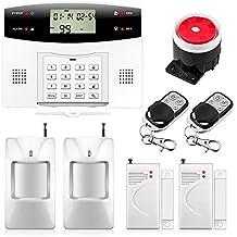 Fuers - G2 sistema - kit de alarma para casa seguridad telefónica inalámbrico RTC - Evolutive 99 zonas 4 zonas, FR alarma casa inalámbrica GSM (central + detector de movimiento + Contacto de apertura + mando a distancia)