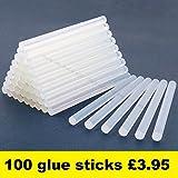Hot Melt Glue Gun Trigger Adhesive 7mm glue Sticks Mini Craft DIY UK Brand (100 Glue Sticks Only)
