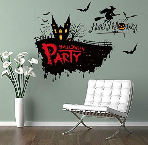 or Hexe Wandaufkleber Halloween Thema Party Wanddekoration Aufkleber 50 * 70 Cm Festival Und Party Supplies ()