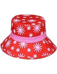 Filles Chapeau de soleil réversible–motif marguerites