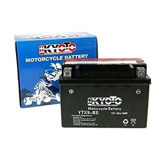 Kyoto Ytx9-bs - Ss Akkumulatorbatterie für Motorrad, SäureL 150x B 87x H 105mm, 12V, 8Ah, Säuremenge 0,47l