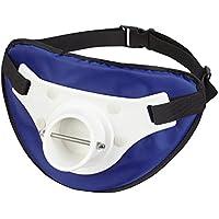 Cintura con rutenhalterung e imbottitura ideale per canna da pesca con croce conclusione, blau/weiß, Taglia unica - Deluxe Nylon Halter