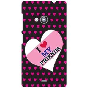 Nokia Lumia 535 Phone Cover - I Love My Friends Matte Finish Phone Cover