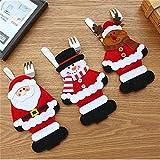 Weiy Weihnachten Weihnachtsmann Schneemann Elch Design Gabel Löffel Besteck Tasche Schöne Weihnachten Geschirr Halter Neujahr Weihnachten Weihnachtsfeier Hause Tischdekoration
