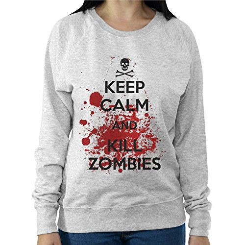 Felpa Leggera Donna Keep Calm And Kill Zombies The Walking Dead