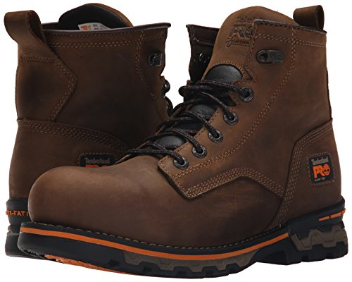 Timberland PRO Men s AG Boss Alloy Toe Unlined Work Boot  Brown Distressed Leather  8 5 M US