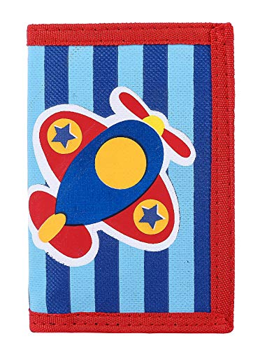 RFID Blocking Wallet for Kids/Slim Cartoon Wallet with Zippered Pocket/Trifold Canvas Outdoor Sports Wallet