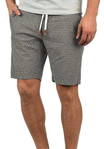 Blend Serge Herren Chino Shorts Bermuda Kurze Hose Mit Rauten-Muster Und Kordel-Gürtel Aus 100% Baumwolle Regular Fit, Größe:XL, Farbe:Black (70155) (Trainingshose Oxford)