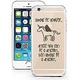 licaso® iPhone 6TPU móvil Disney Case Transparente Clara Funda Móvil iPhone6Funda Phone Case, TPU, Be a Unicorn, iPhone 6 6S