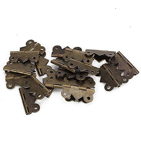 20 piezas Mini mariposa decorativo Vintage M tamaño bisagras para cajones Joyero