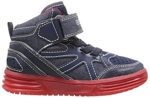 Geox - J Argonat Boy B, Scarpe da ginnastica Bambino Blu (Navy/redc0735)