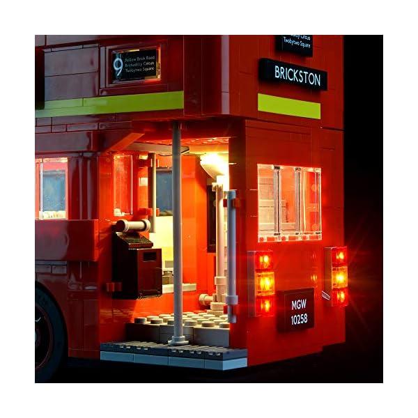 LIGHTAILING Set di Luci per (Creator Expert Autobus Londinese) Modello da Costruire - Kit Luce LED Compatibile con Lego 10258 (Non Incluso nel Modello) 4 spesavip
