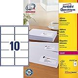 AVERY Zweckform L7173-100 Adress-Etiketten (A4, 1.000 Etiketten, 99,1 x 57 mm, 100 Blatt) weiß
