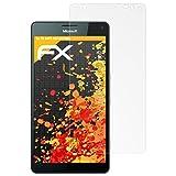 atFolix Panzerfolie kompatibel mit Microsoft Lumia 950 XL Schutzfolie, entspiegelnde & stoßdämpfende FX Folie (3X)