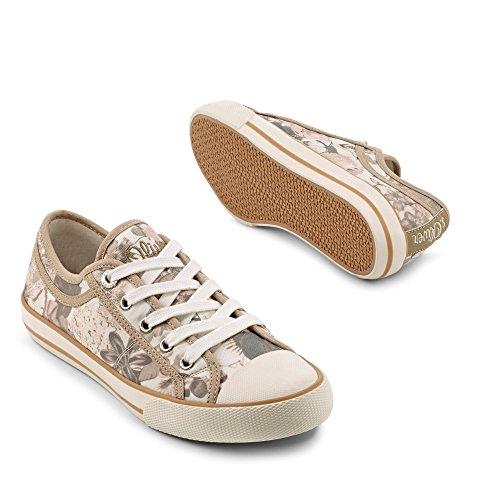 s.Oliver Sneaker beige/geblümt