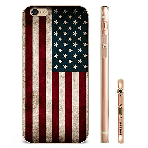 IPHONE 7plus Hülle USA Deutschland Fahne Muster Silikon TPU Schutzhülle Ultradünnen Case für iPhone 7/7plus gq2