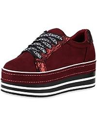 b01953b4e726fb Suchergebnis auf Amazon.de für  plateau sneaker - Rot   Schuhe ...
