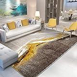 Clothes UK- Nordic Ins Goldener Streamer-Kunstteppich, der Wohnzimmer Antimilben-Teppich speist Teppich (Farbe : B, größe : 160X230CM)