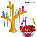 #10: Birdie Fruit Fork, Fruit Picker, Dining Table-top Decor