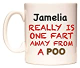 Jamelia REALLY IS ONE FART AWAY FROM A POO Tasse de WeDoMugs