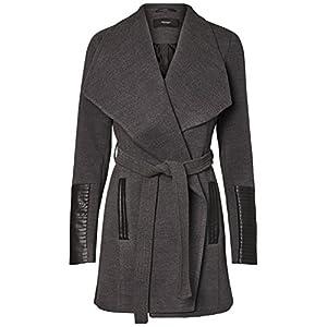 87cec2b65e6 Vero Moda – Women s Wrap Cala Wool Winter Coat. Belted Wrap Jacket