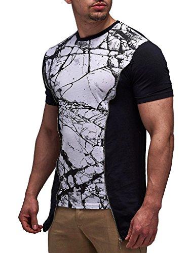 LEIF NELSON Herren Oversize T-Shirt LN535; Größe M, Schwarz |