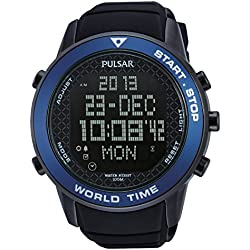 Pulsar Gents Watch Digital Quartz, of rubber