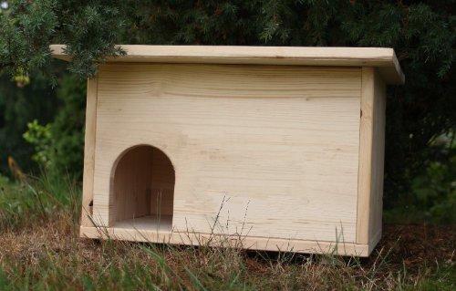 Igelhütte Igelhaus Igelhotel mit Labyrintheingang und Rattenklappe