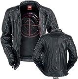 Suicide Squad Deadshot Leder-Jacke schwarz L
