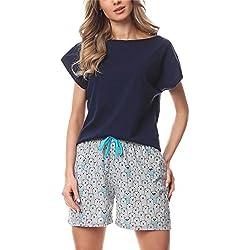 Merry Style Pijama para Mujer MS10-178 (Marino/Oso, S)