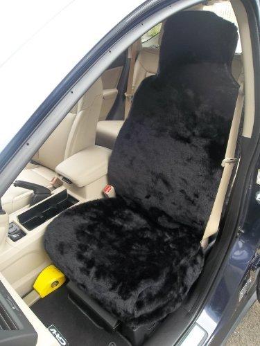 Mini 1 / Cooper / S coprisedili auto in pelliccia nera pantera,2 pezzi,per sedili anteriori