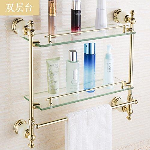 Goldene Handtuchhalter Vintage Handtuchhalter Set Badezimmer Anhänger Persönlichkeit Regal Doppel Kommode -