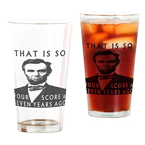 CafePress–Abe Lincoln–Pint-Glas, 16oz Trinkglas frosted