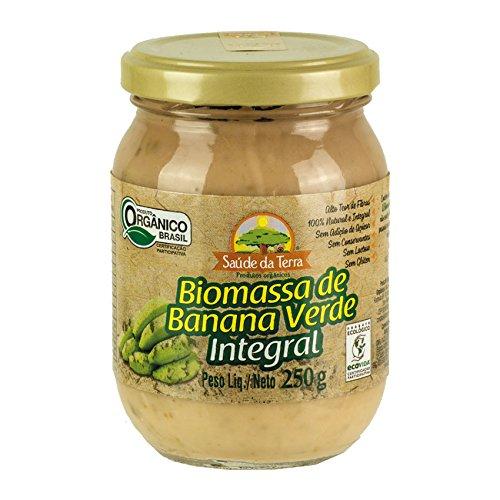 Grüne Bananen-Biomasse, Glas 250g - Biomassa de Banana Verde Integral DACOLONIA 250g