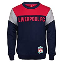 Liverpool FC Official Football Gift Boys Crest Sweatshirt Top Navy 10-11 Years