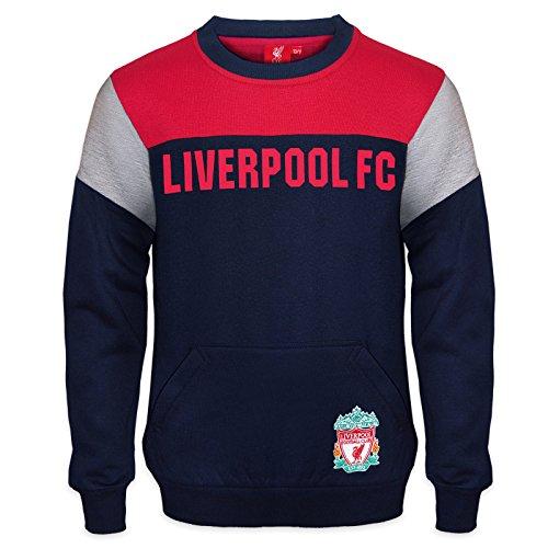 Liverpool FC - Jungen Sweatshirt mit Vereinswappen - Offizielles Merchandise - Geschenk für Fußballfans - 12-13 Jahre